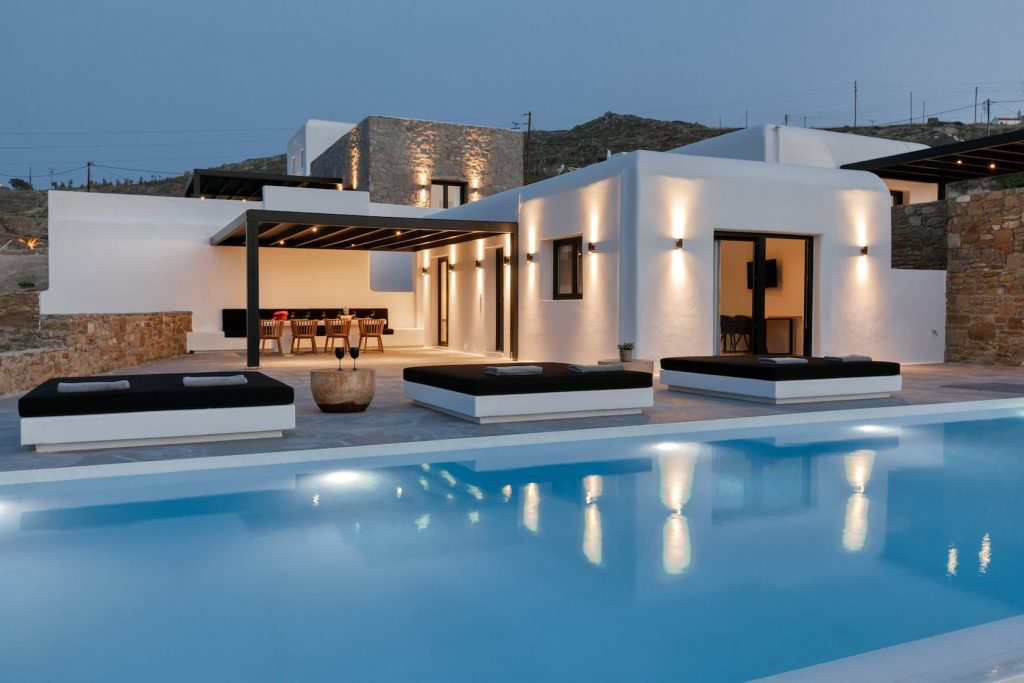 Mykonos Luxury Villa Ftelia Black I17