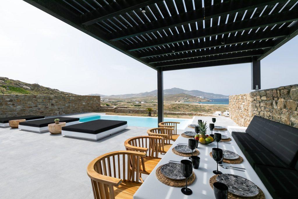 Mykonos Luxury Villa Ftelia Black II0