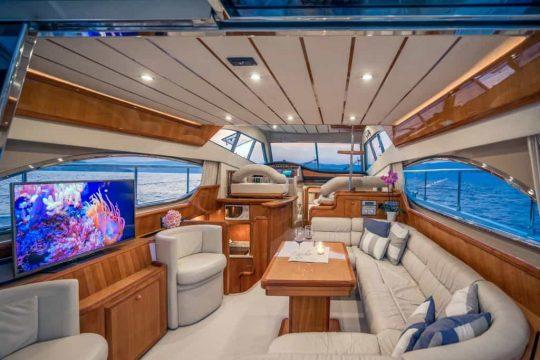 Mykonos luxury yacht Ferretti 53 Flybridge - Baby13