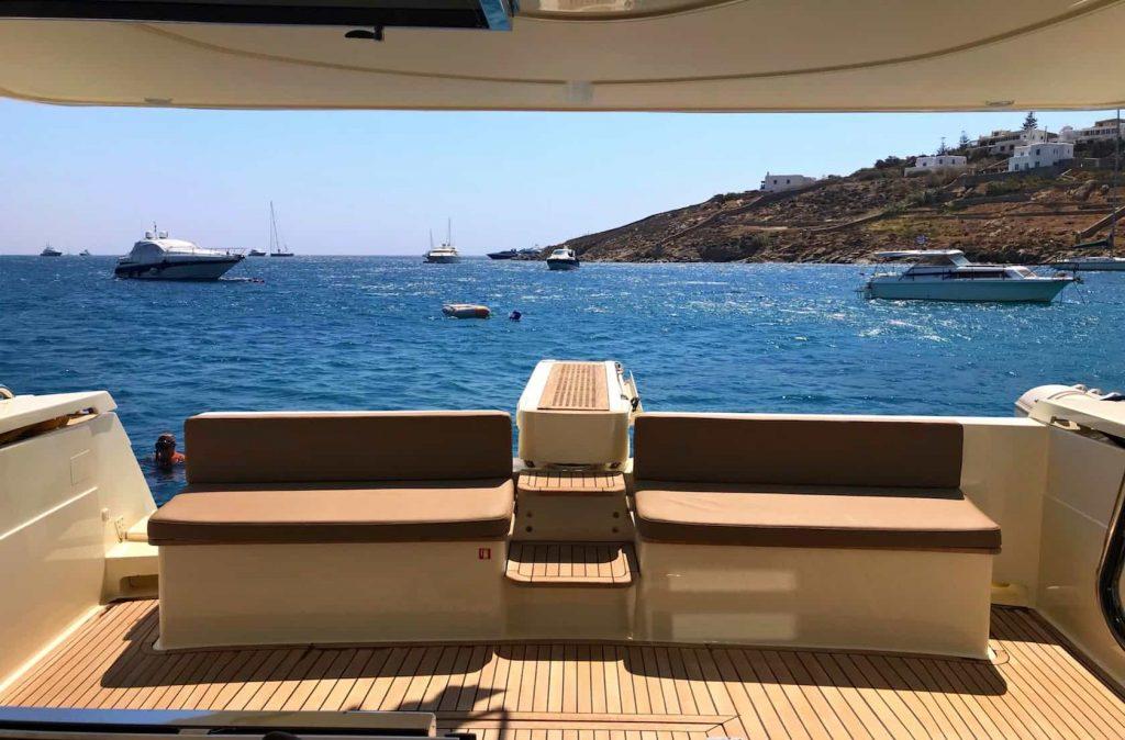 Mykonos luxury yacht Ferretti 53 Flybridge - Baby2