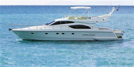 Mykonos luxury yacht Ferretti 53 Flybridge - Baby3