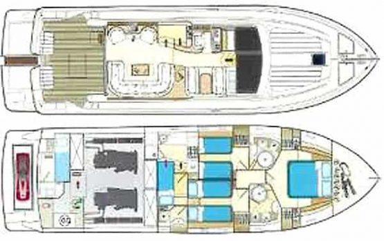 Mykonos luxury yacht Ferretti 53 Flybridge - Baby6
