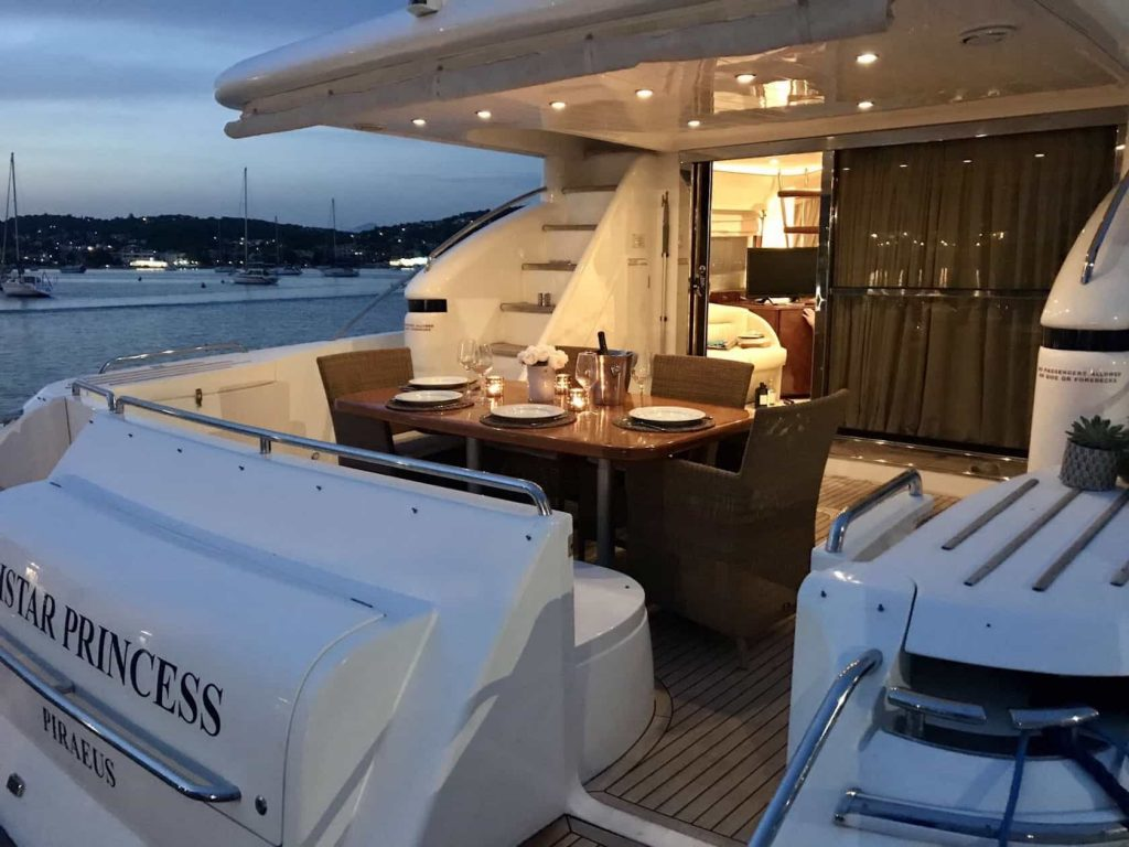 Mykonos luxury yacht Princess658